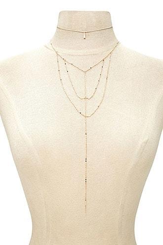 Forever21 Choker & Caged Necklace Set