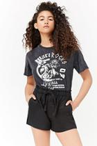 Forever21 Linen Drawstring Shorts