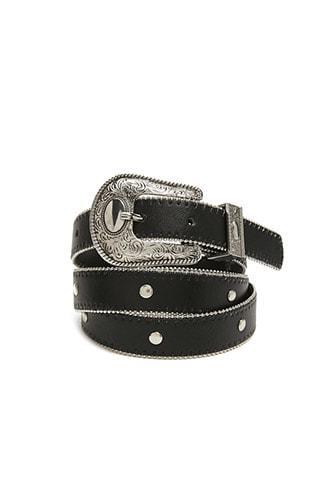 Forever21 Burnished Faux Leather Belt