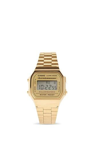 Forever21 Men Casio Vintage Gold Tone Digital Watch