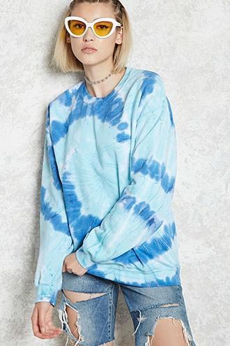 Forever21 Tie-dye Fleece Sweatshirt