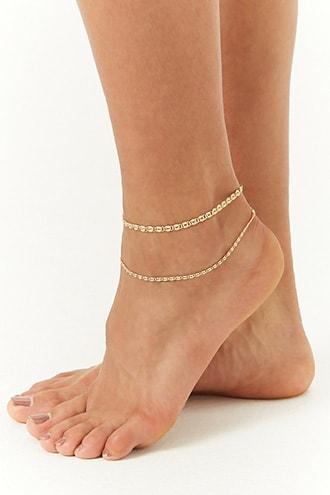 Forever21 Embossed Anklet Set