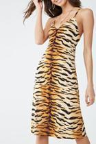 Forever21 Tiger Striped Midi Dress