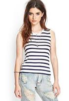 Forever21 Striped Muscle Tee