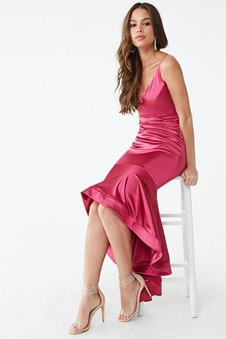 Forever21 Satin High-low Mermaid Gown