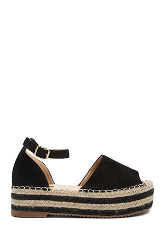 Forever21 Faux Suede Espadrille Sandals