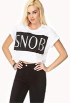 Forever21 Snob Crop Top