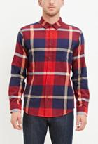 21 Men Classic Plaid Shirt