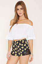 Forever21 Women's  Crocheted Sunflower Shorts