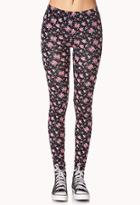 Forever21 Sweet Side Rose Leggings