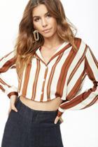 Forever21 Satin Striped Shirt