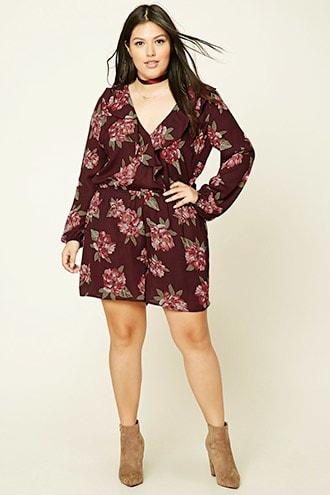 Forever21 Plus Size Floral Ruffle Romper