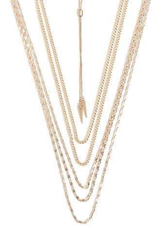 Forever21 Cone Pendant Necklace Set