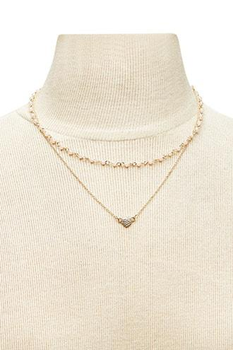 Forever21 Heart Pendant Layered Necklace