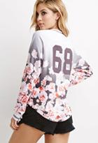 Forever21 Ombre Floral Print Pullover
