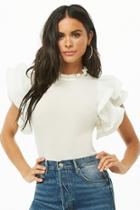 Forever21 Pleated Flounce Top