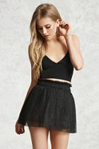 Forever21 Shimmery Tulle Mini Skirt