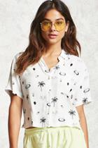 Forever21 Graphic Print Cropped Shirt
