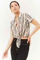 Forever21 Striped Knotted Shirt