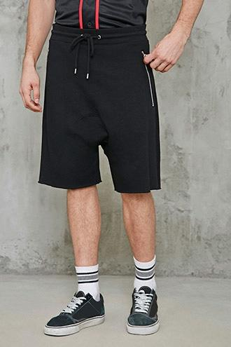 Forever21 French Terry Drop-crotch Shorts