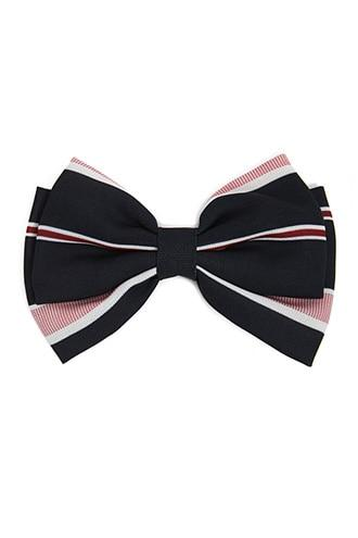 Forever21 Striped Bow-tie Hair Clip