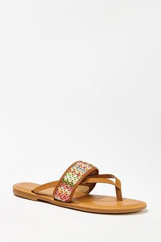 Forever21 Crochet Thong Sandals
