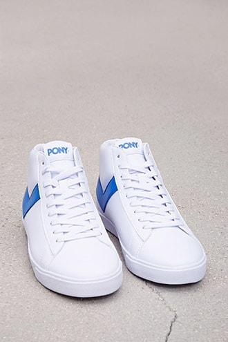 Forever21 Pony Leather High-top Sneakers