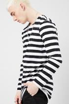 Forever21 Striped Print Top