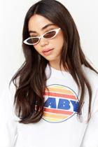 Forever21 Skinny Cat-eye Sunglasses