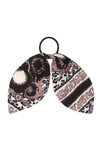 Forever21 Baroque & Leopard Print Bow Hair Tie