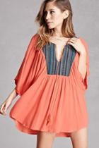 Forever21 Embroidered Butterfly Tunic