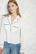 Forever21 Contemporary Contrast-trim Shirt