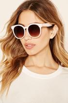 Forever21 Light Pink & Brown Oversized Round Sunglasses