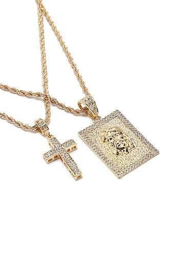 Forever21 Men American Exchange Cz Stone Necklace Set