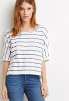 Love21 Striped Textured Knit Top