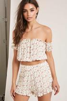 Forever21 Floral Crop Top & Shorts Set