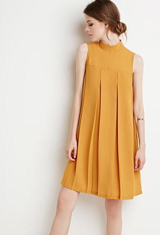 Love21 Pleated Trapeze Dress