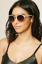 Forever21 Nude & Brown Browline Square Sunglasses