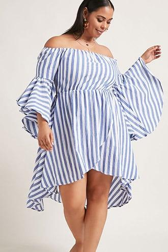 Forever21 Plus Size High-low Striped Dress