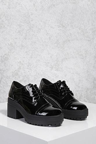 Forever21 Patent Oxford Platform Shoes