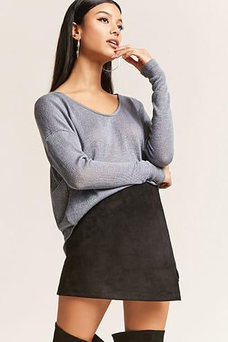 Forever21 Sheer High-low Top