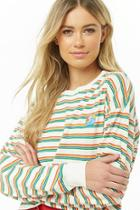 Forever21 Ocean Vibes Graphic Striped Tee