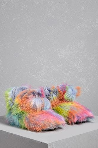 Forever21 Muk Luks Fuzzy Rainbow Boots
