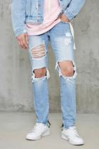 Forever21 Distressed Frayed Jeans