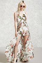 Forever21 Floral Maxi Skort Romper