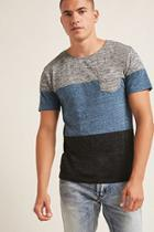 Forever21 Ocean Current Colorblock Tee
