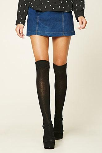 Forever21 Over-the-knee Socks - 2 Pack