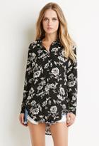 Forever21 Floral Longline Shirt