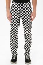 Forever21 Checkered Drawstring Denim Pants
