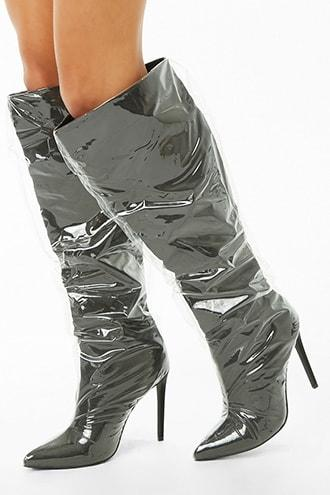 Forever21 Over-the-knee Covered Boots
